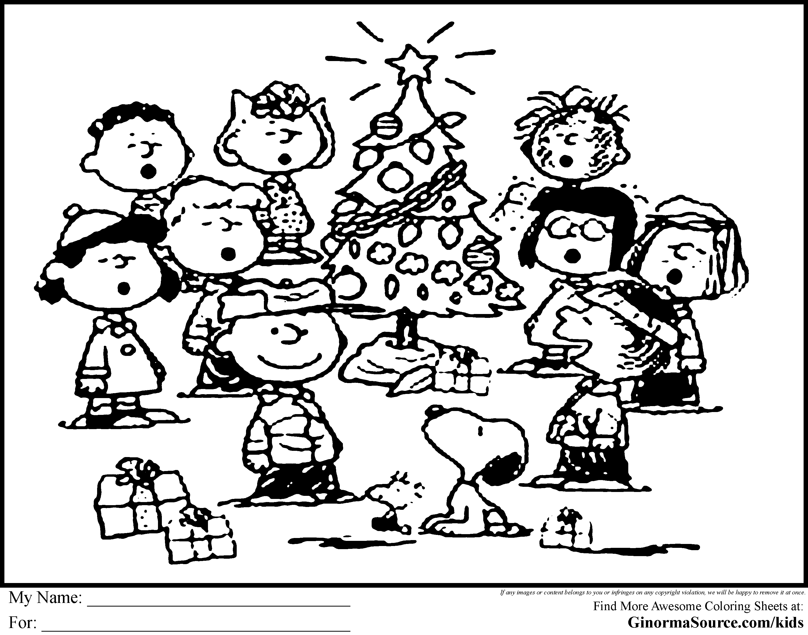 Charlie Brown Christmas Coloring Pages Free