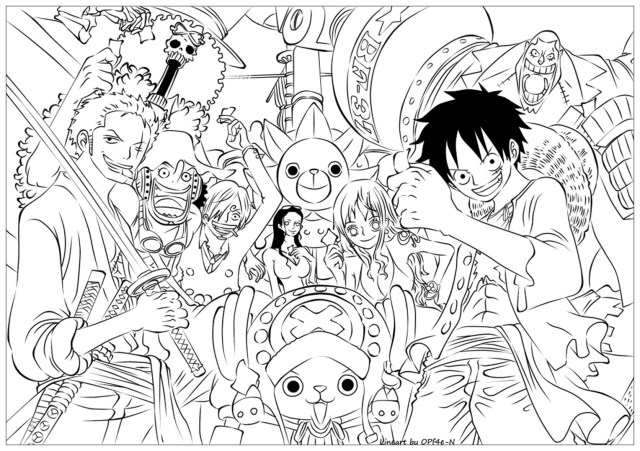 One Piece Coloring Pages - Coloring Home