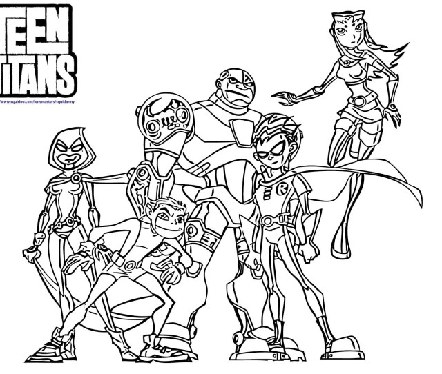 Coloring Pages For Teen Titan Coloring Home