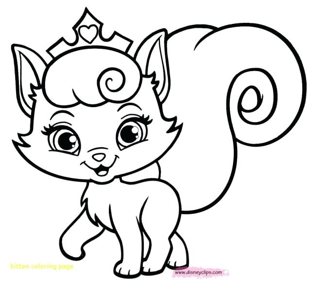 Coloring ~ Cute Kitten Coloring Pages Free Printable With