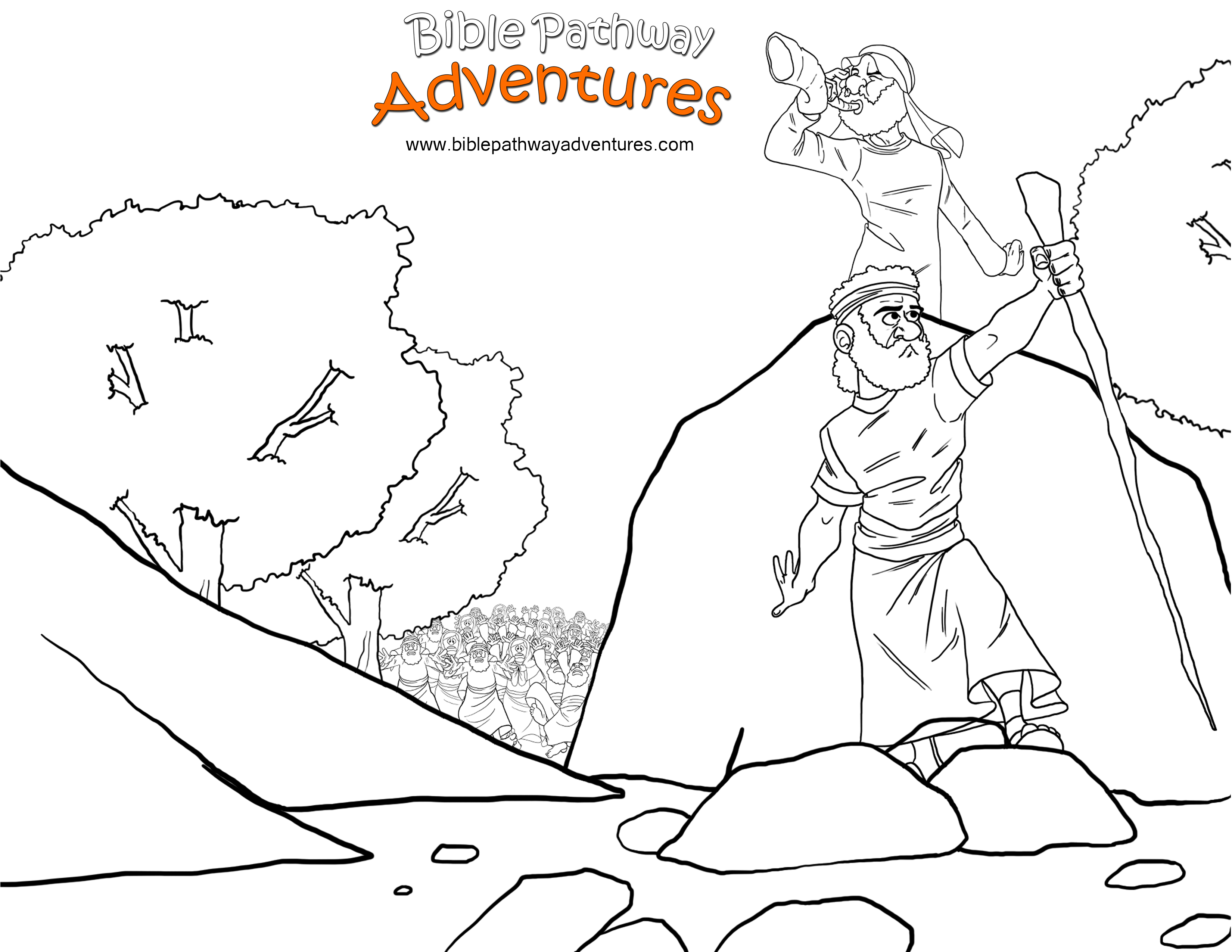 Joshua And The Promised Land Coloring Page