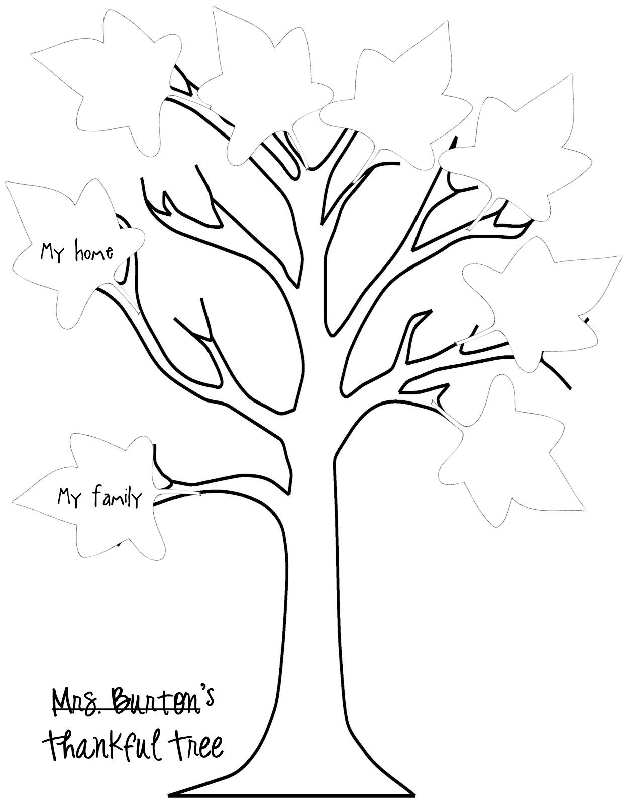 Trees And Leaves Coloring Pages