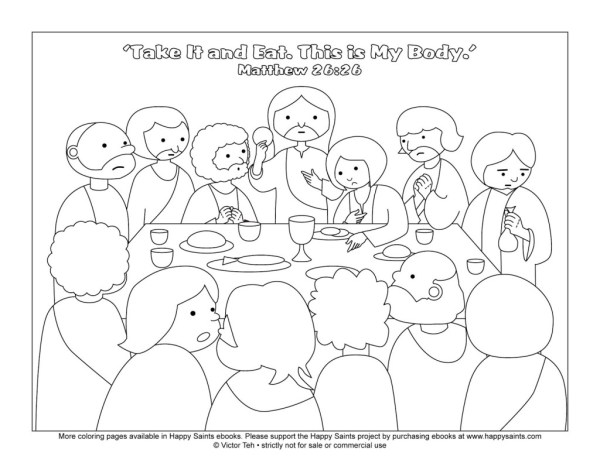 the last supper coloring page # 13