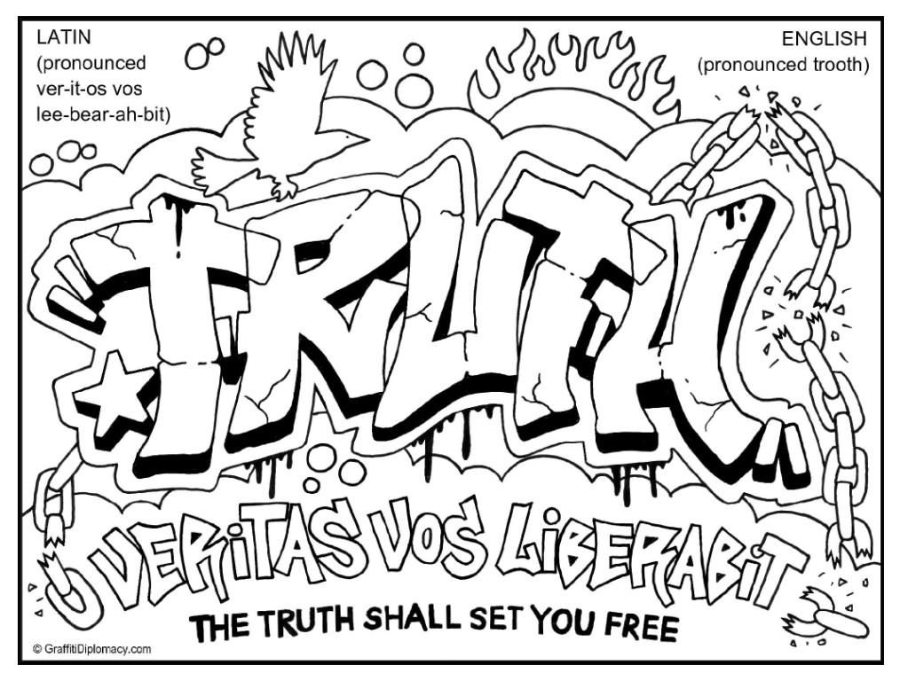 Graffiti Coloring Page Coloring Home