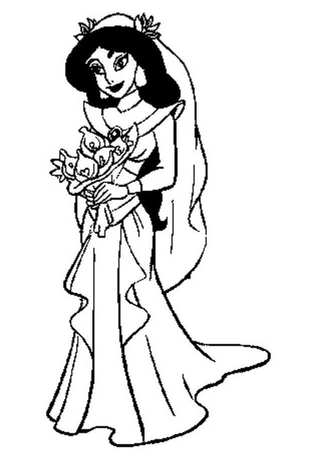 Jasmine Coloring Pages Free Printable - High Quality Coloring