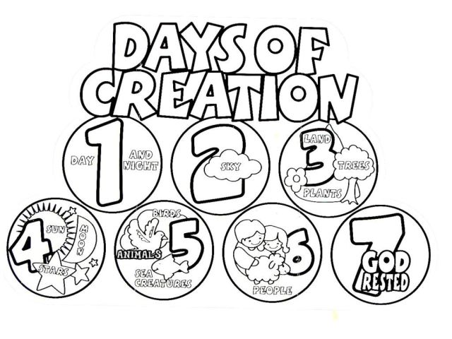 Coloring Pages Creation Story Craft Free For Preschoolers Days