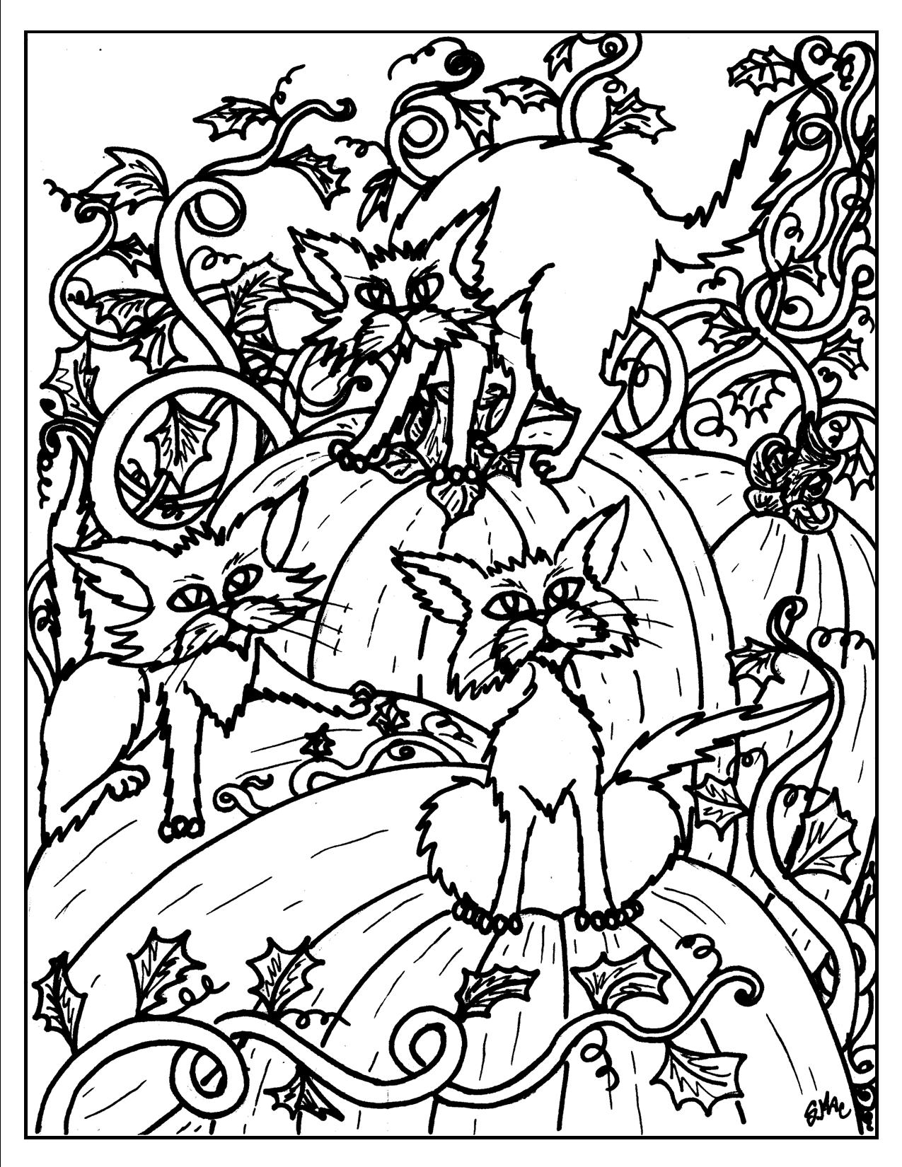 Halloween Adult Coloring Pages Coloring Home