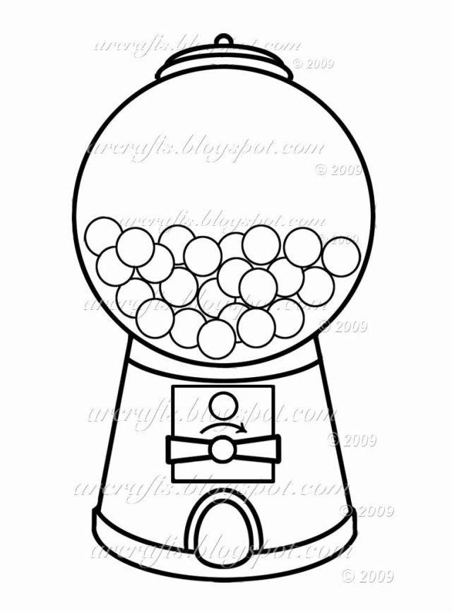 Gumball Machine Coloring Page Elegant Gumball Machine Coloring