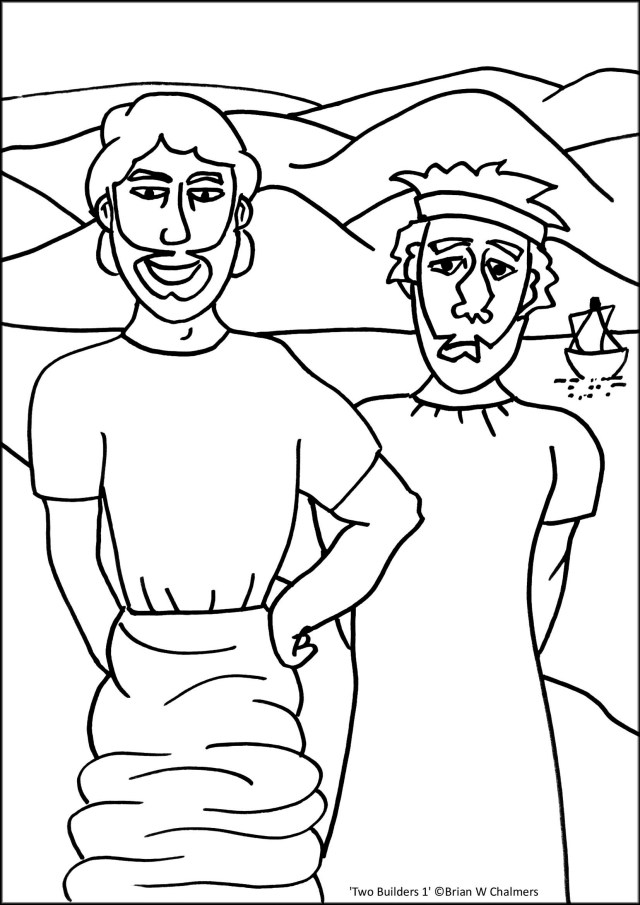 Wise Man Foolish Man Coloring Pages - Coloring Home