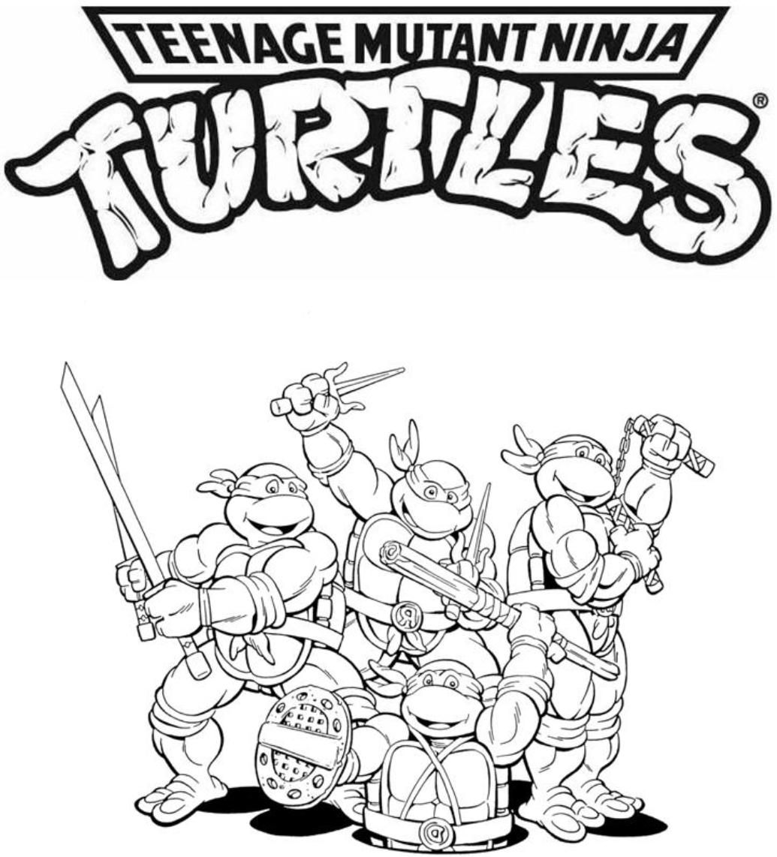 Christmas Ninja Turtles Coloring Pages