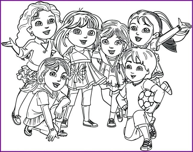 Dora And Friends Coloring Pages - Coloring Home