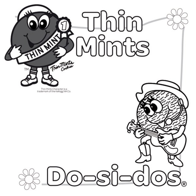 Brownie Girl Scouts Coloring Page - Coloring Home