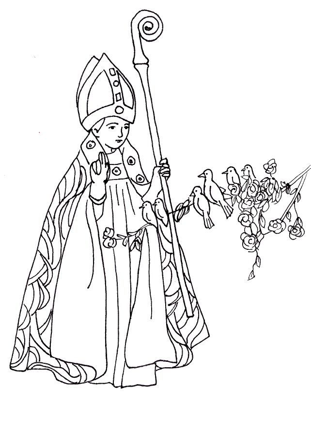 All Saints Day Coloring Page Coloring Home