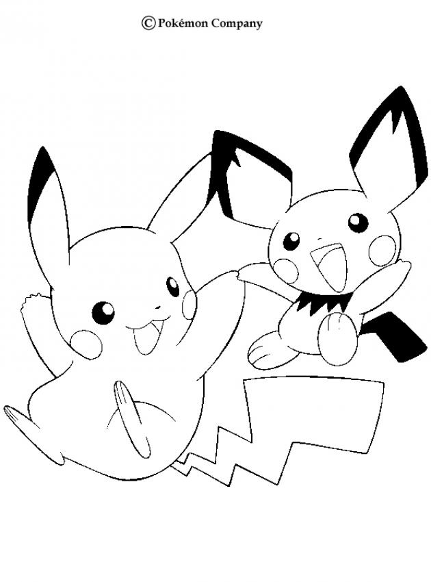 Coloring Pages Pikachu Coloring Home