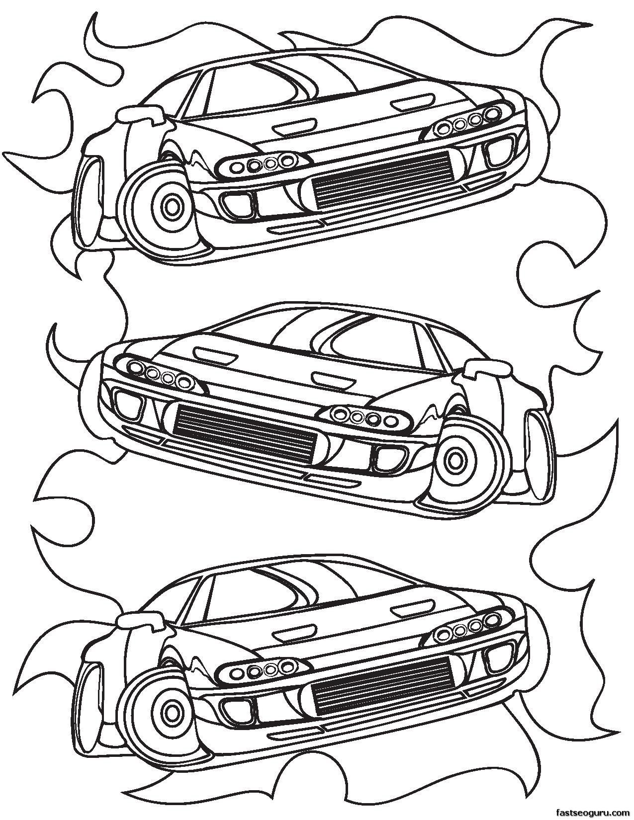 Coloring Pages For Boys Cars Printable