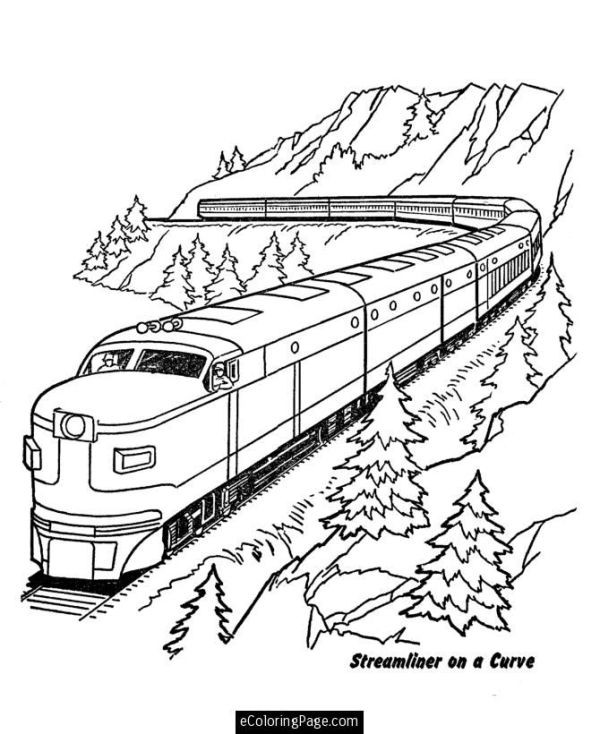 train coloring pages printable # 20