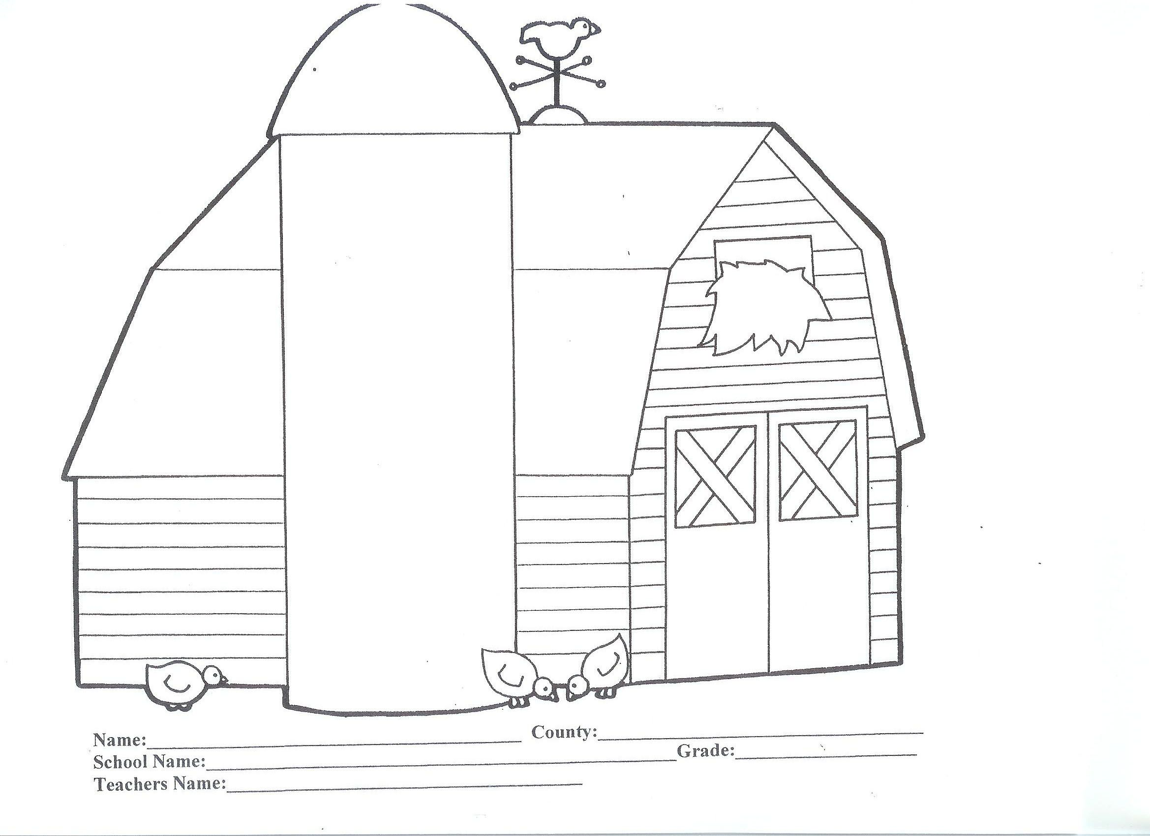 Barn Printable Coloring Pages