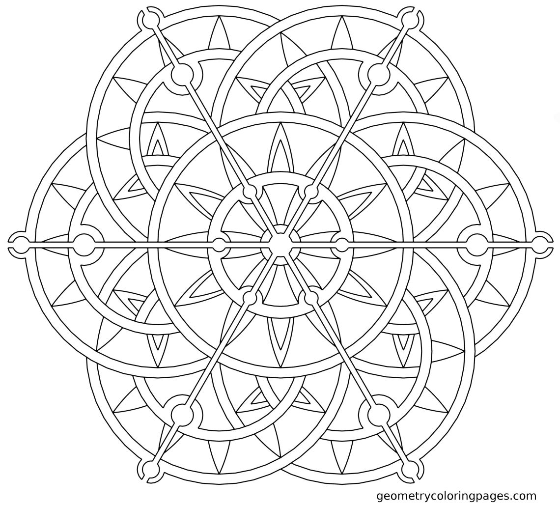 Geometric Mandala Coloring Pages - Coloring Home | printable mandala coloring pages