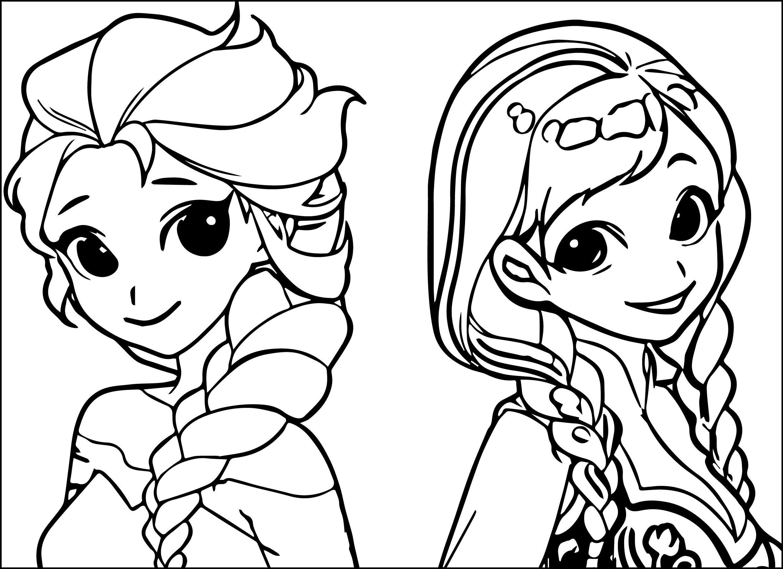 Baby Elsa And Anna Coloring Page   Novocom.top