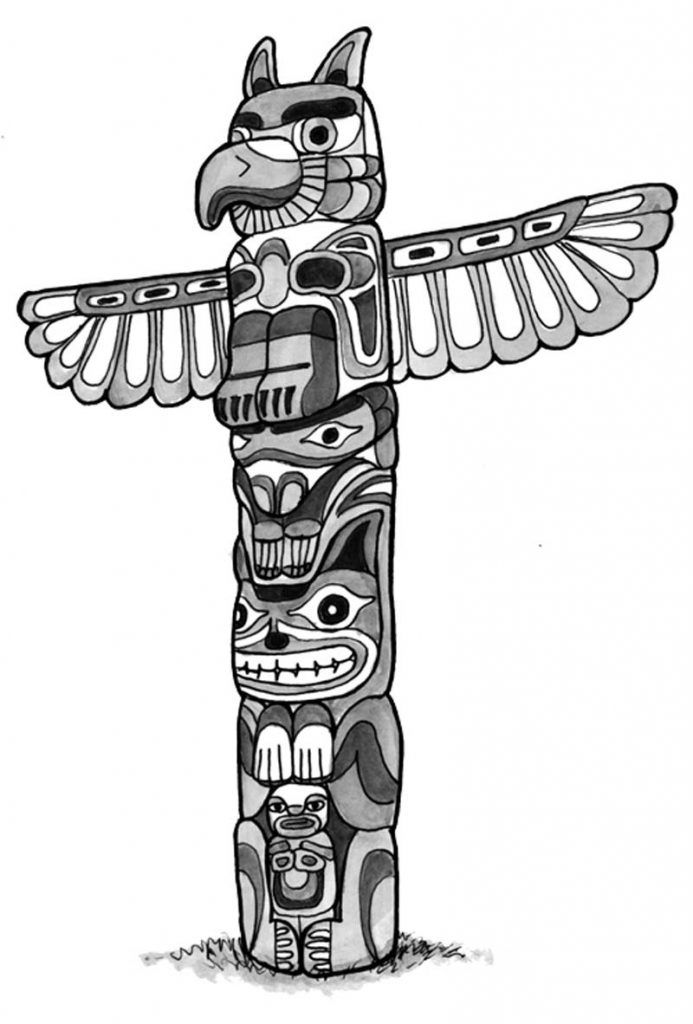 coloring pages of totem poles  coloring home