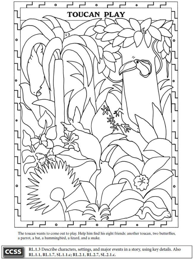 Kapok Tree Coloring Page