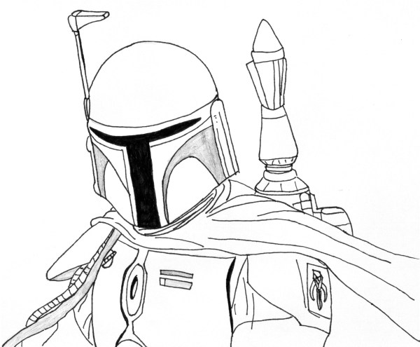 boba fett coloring page # 14