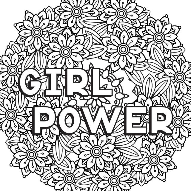 Cool Girls Coloring Pages - Coloring Home