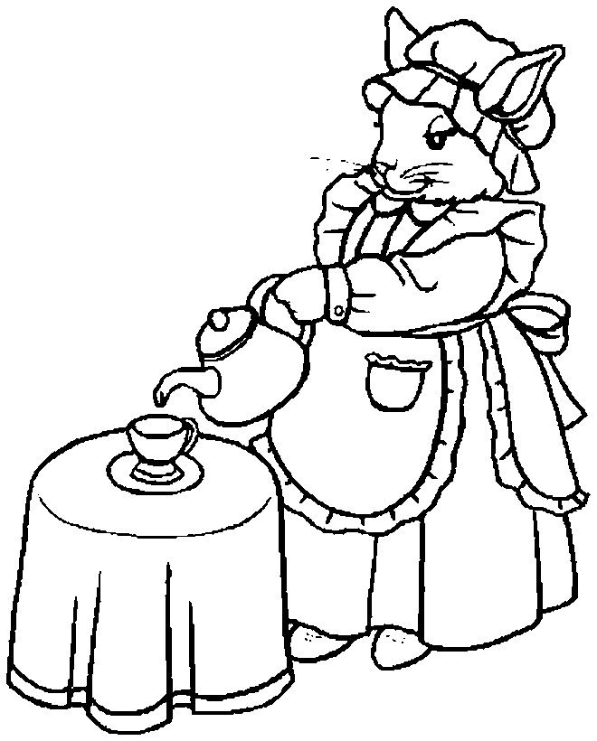 printable tea party coloring pages  coloring home