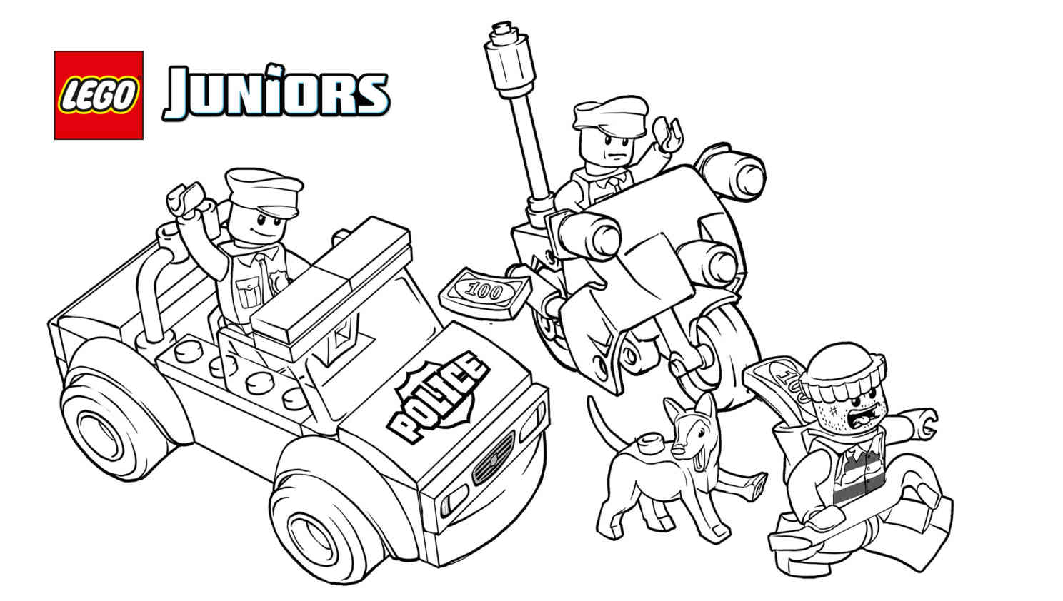 Free Printable Lego Police Coloring Pages