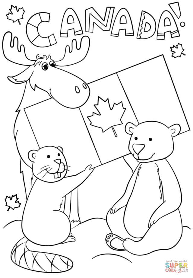 Canada Day Coloring Page  Free Printable Coloring Pages
