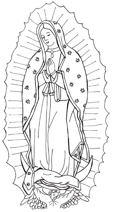 mary coloring pages # 7