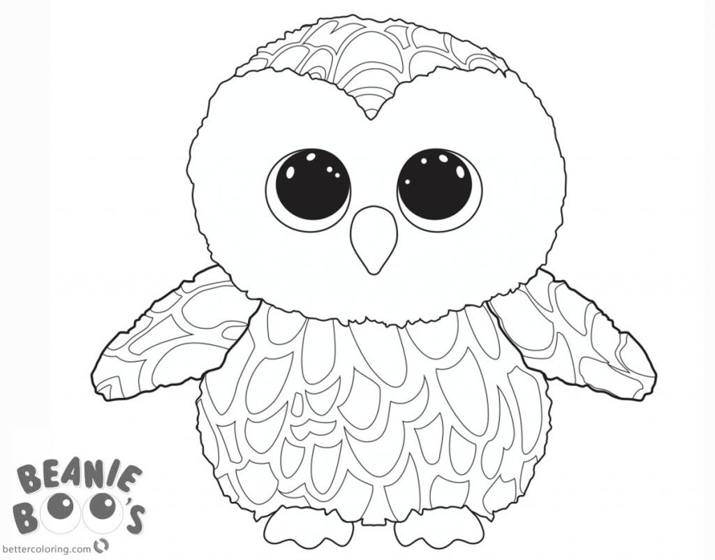 Girly Cute Owl Coloring Pages