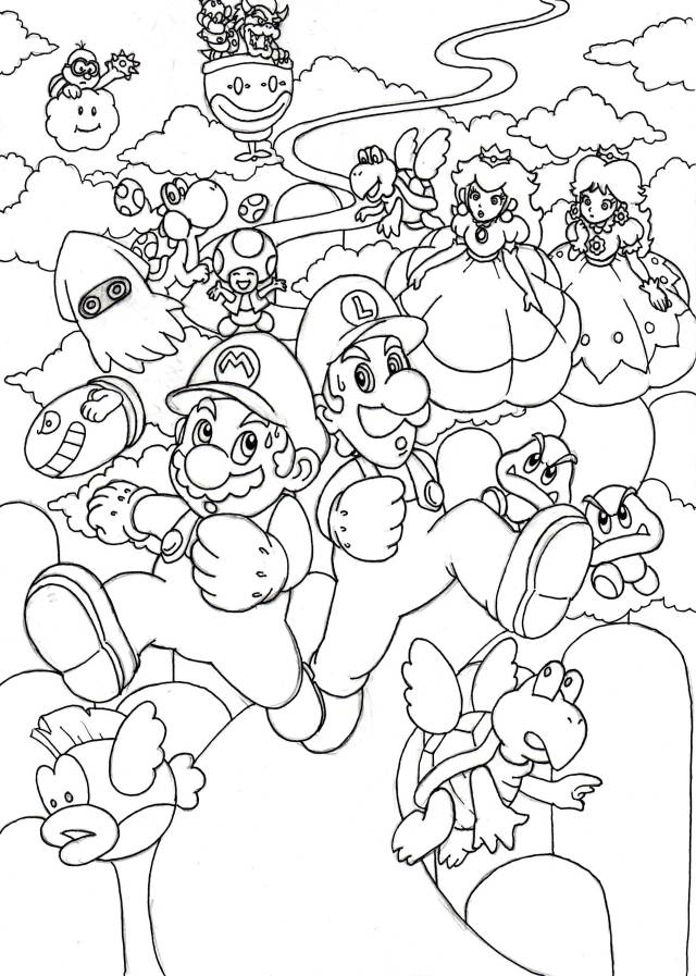 Super Mario 9D World Coloring Pages - Coloring Home