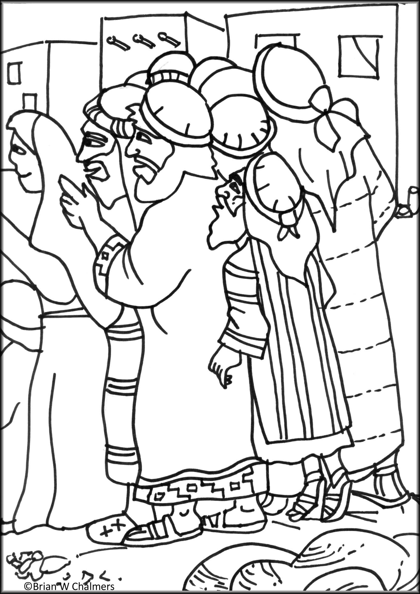 Zacchaeus Free Coloring Pages Sketch Coloring Page