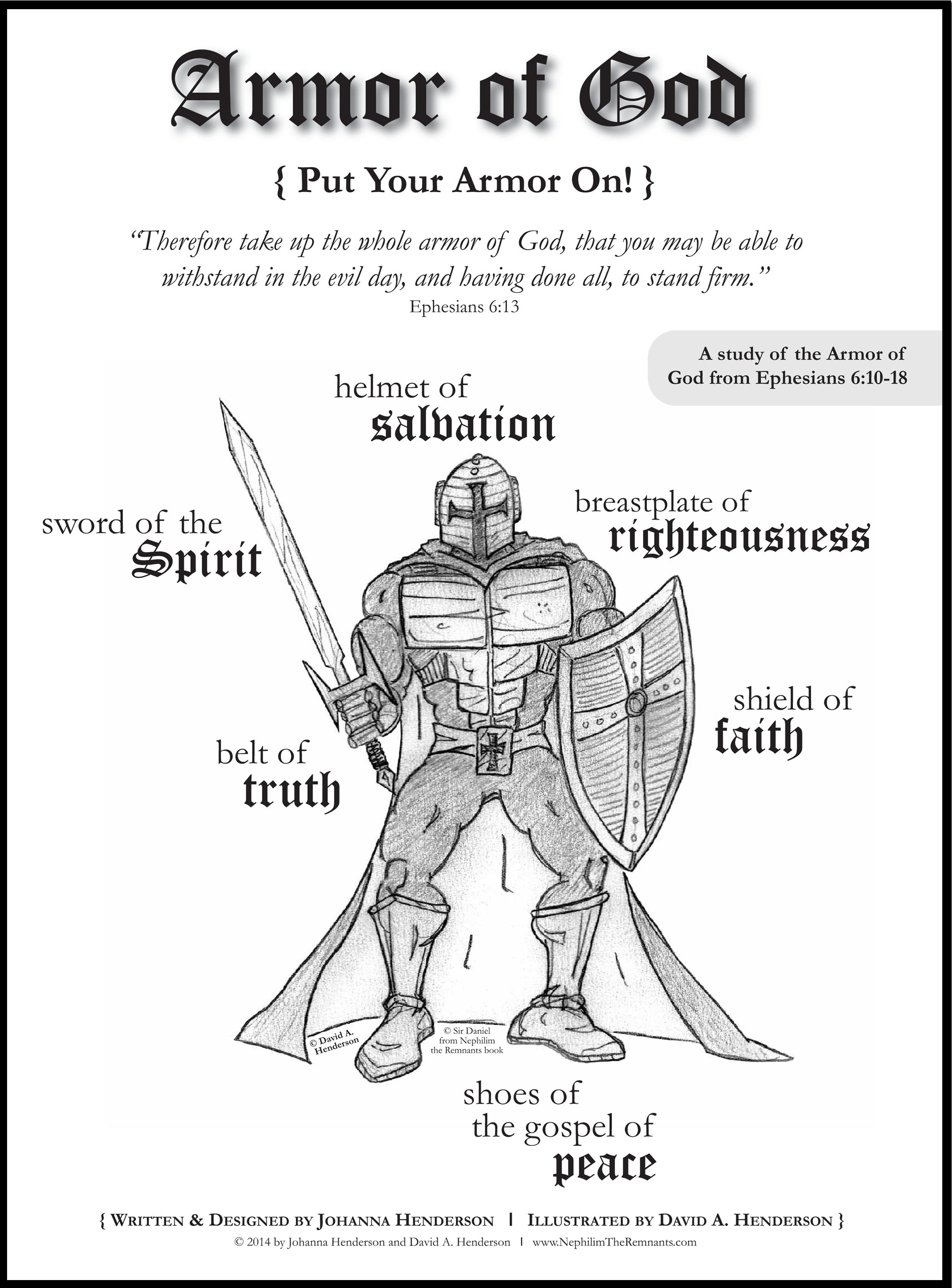 Free Coloring Pages For Armor Of God