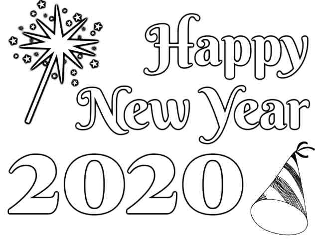 Happy New Year 28 Coloring Pages - Coloring Home