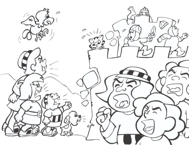 Printable Coloring Pages Walls Of Jericho - Coloring Home