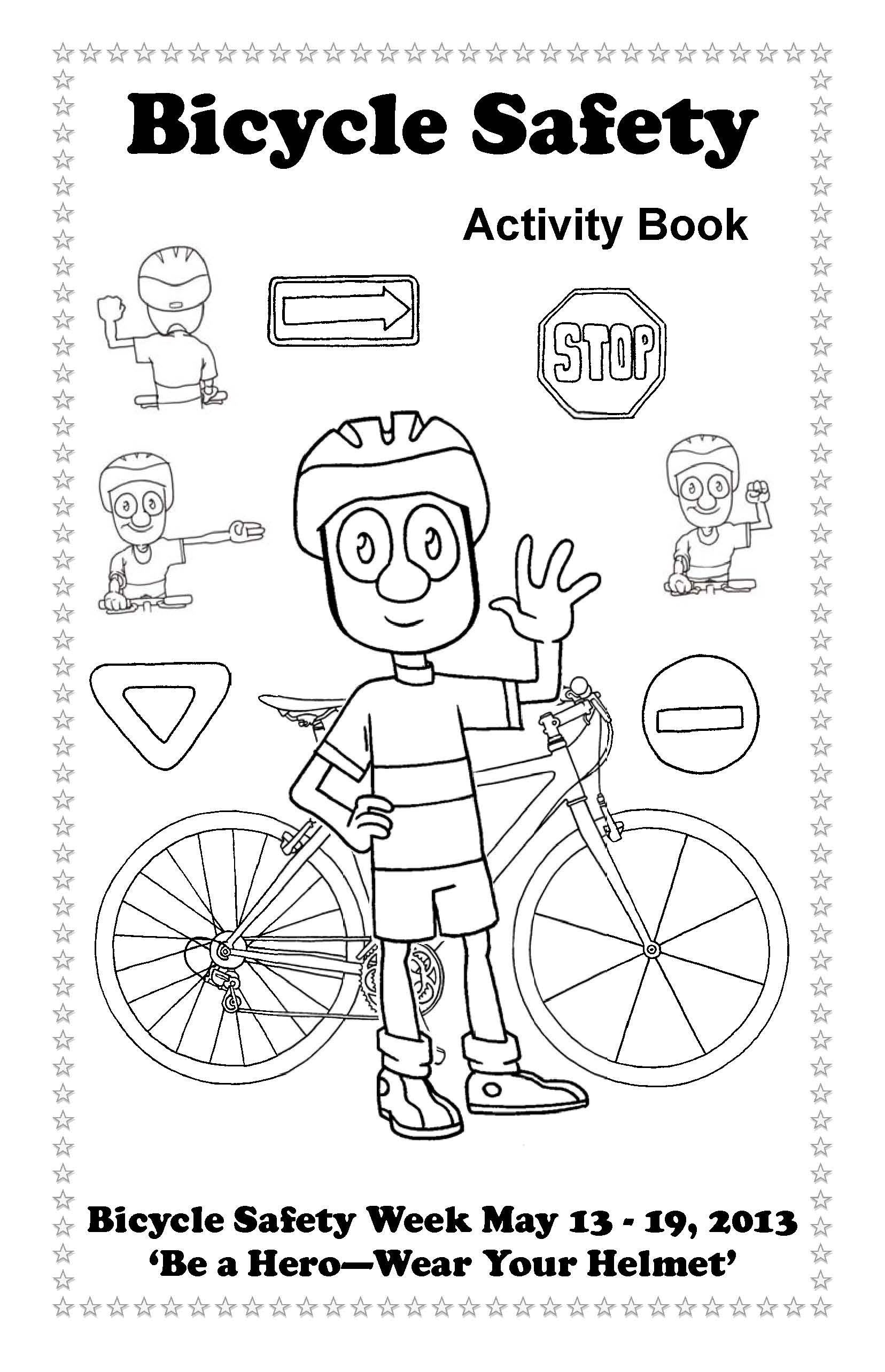 Bike Safety Coloring Pages 9