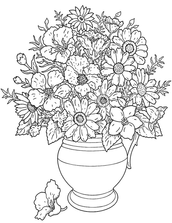 Free Printable Flower Coloring Pages Coloring Home
