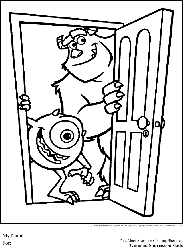 Monsters Inc Coloring Pages - GINORMAsource Kids - Coloring Home