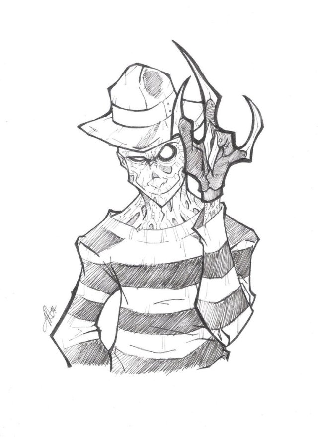 Freddy Krueger Coloring Pages - Coloring Home