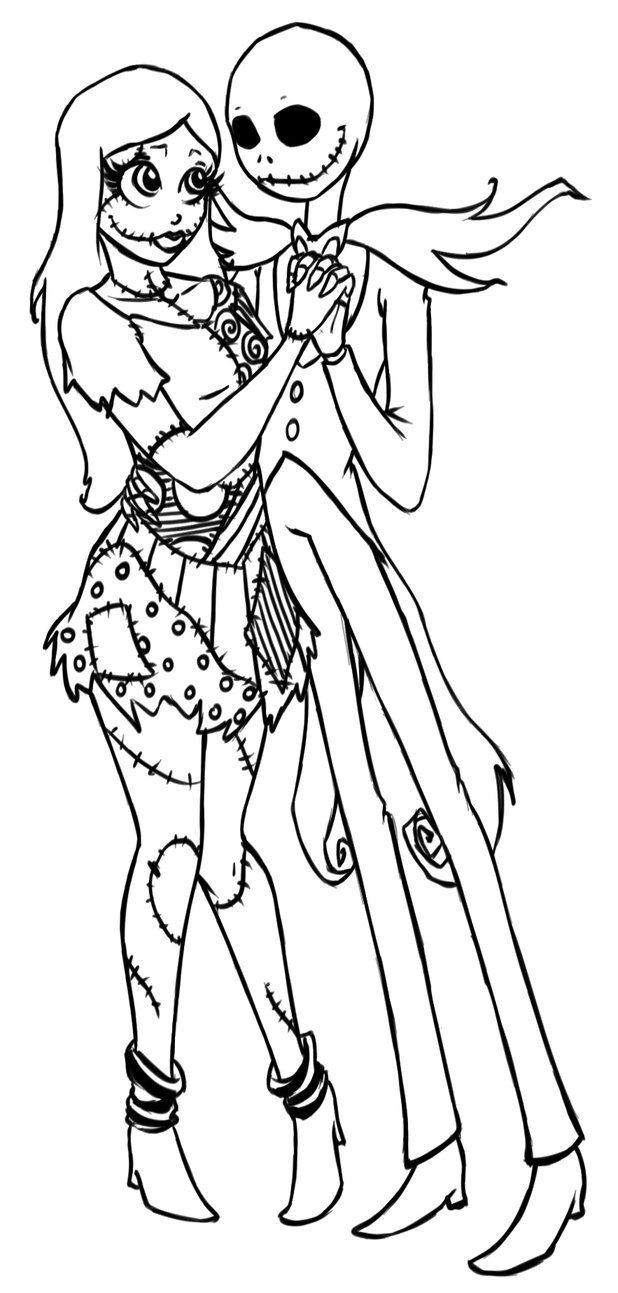 17 Pics Of Sally Nightmare Before Christmas Coloring Pages - Jack