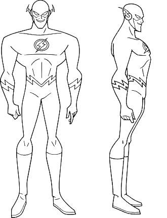 Kid Flash Coloring Pages Coloring Home