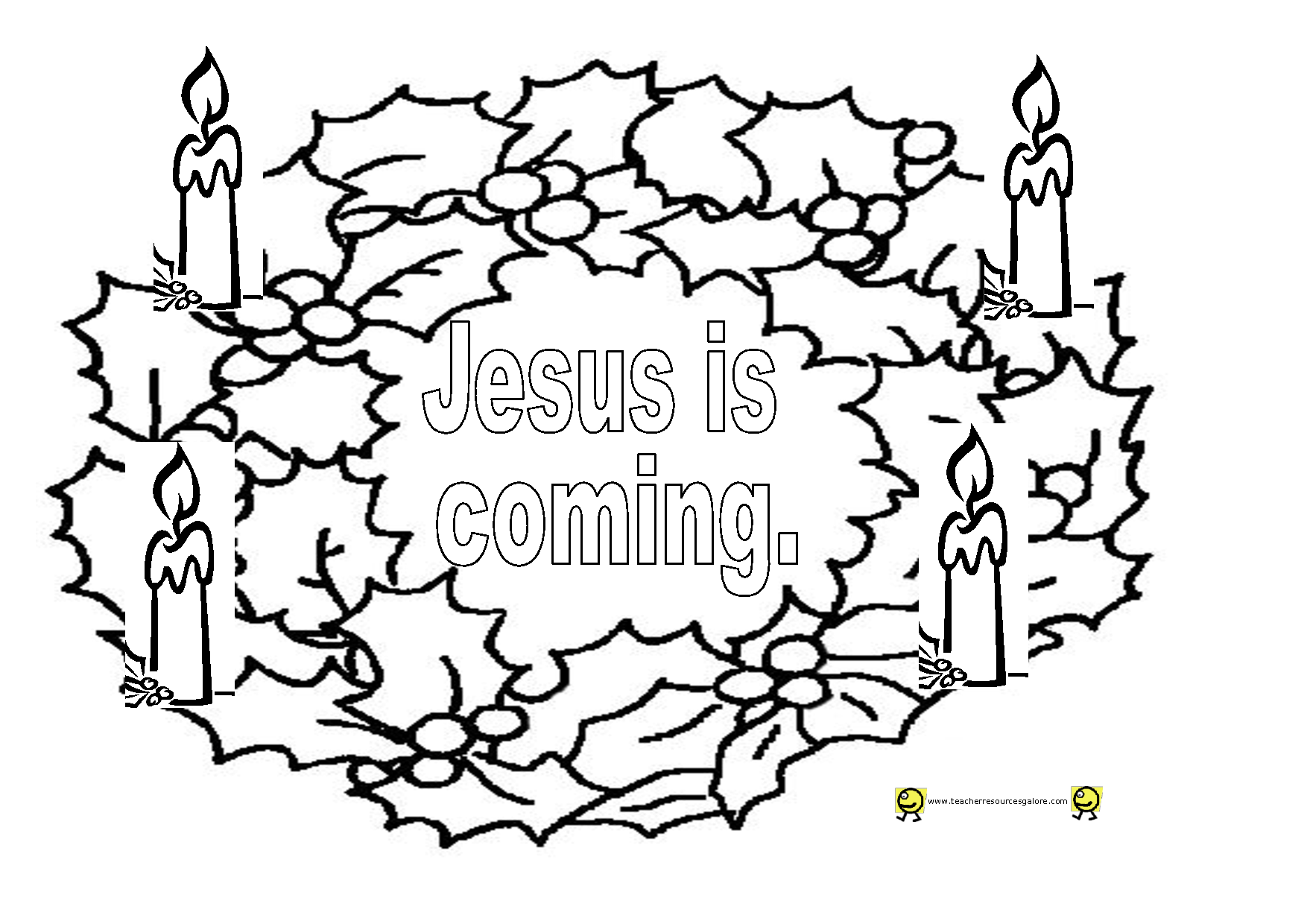 Advent Free Coloring Pages