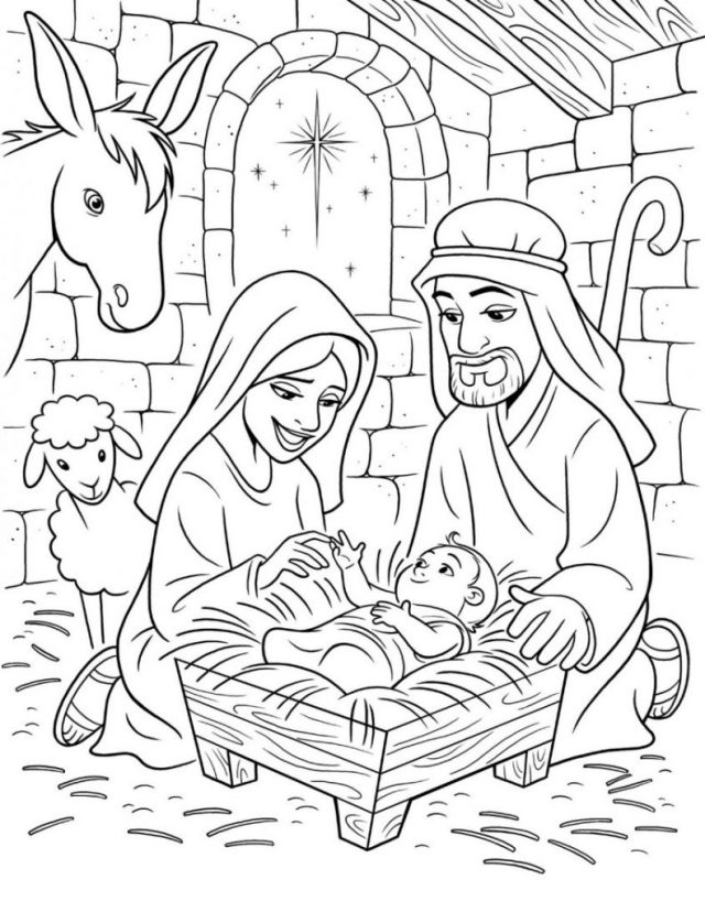 Coloring Page ~ Baby Jesus Coloring Page Pages Sheet Pagestable