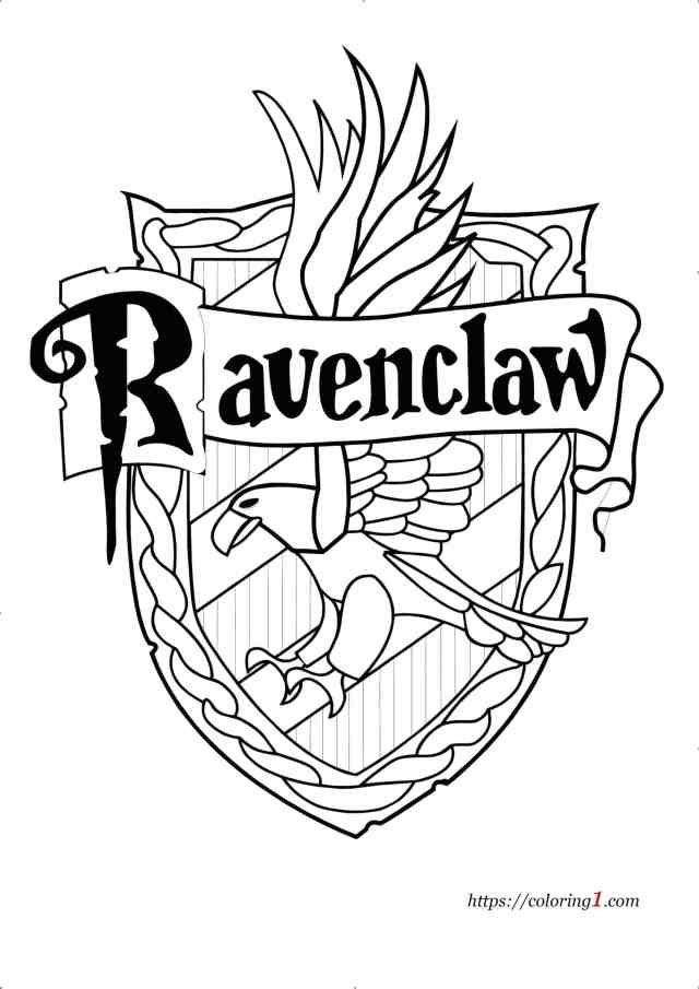 Harry Potter Coloring Sheets Ravenclaw - Coloring Home