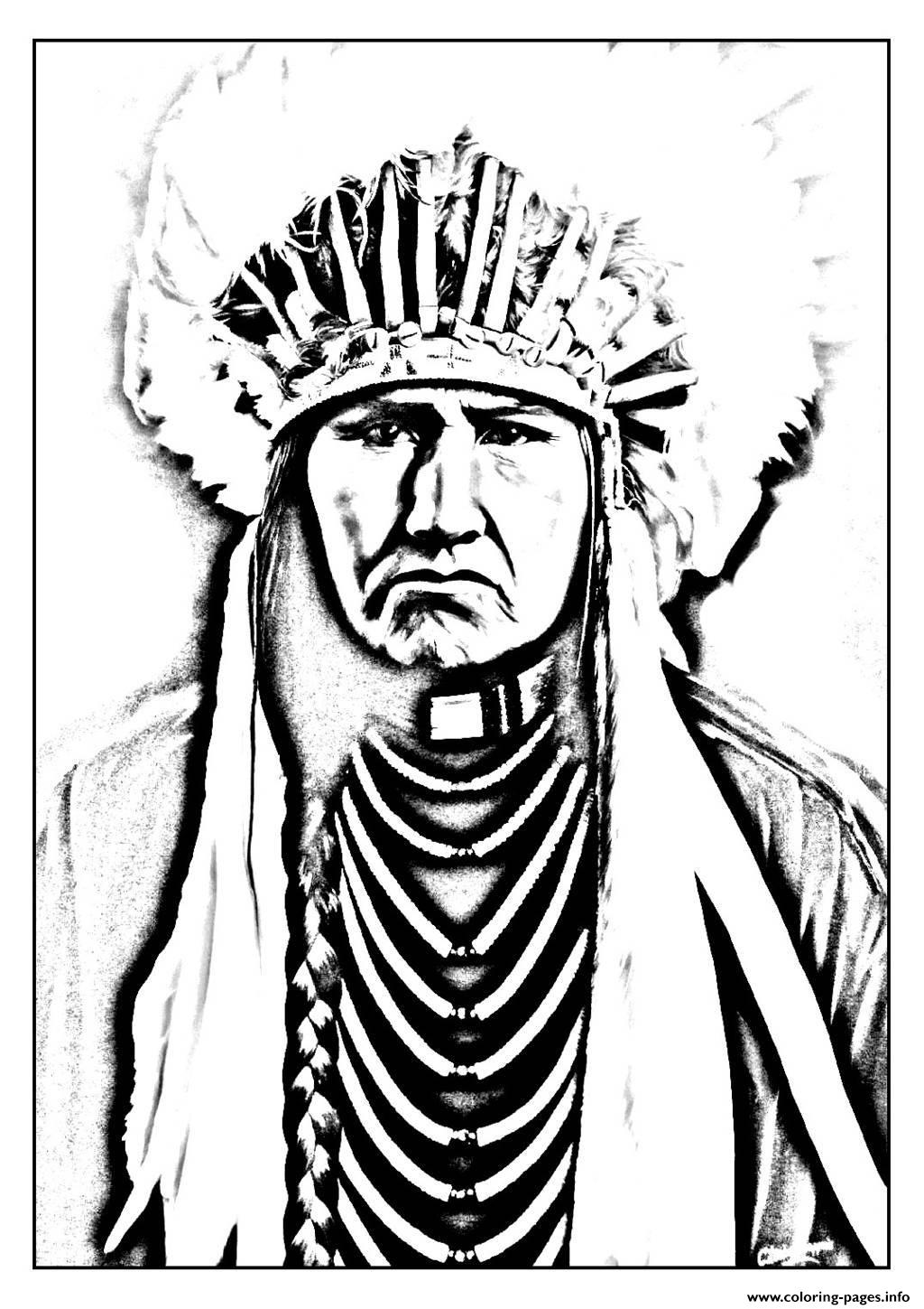 Free Coloring Pages Of Indians American