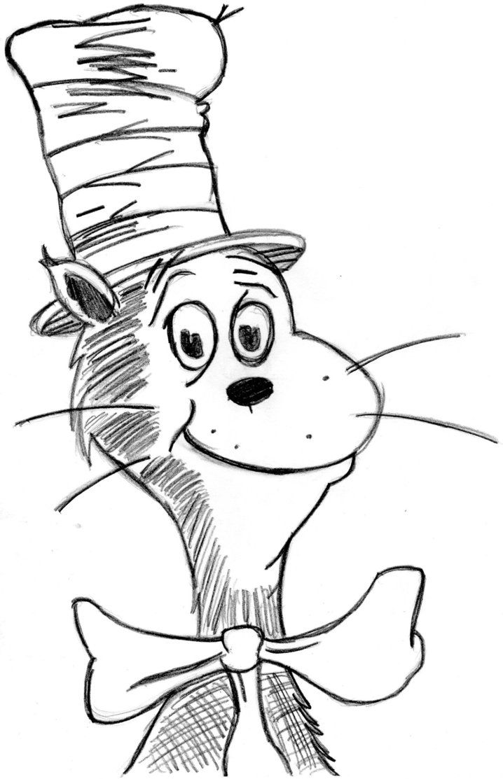 9 Pics Of Free Printable Coloring Pages Big Cat In The Hat Cat Coloring Home