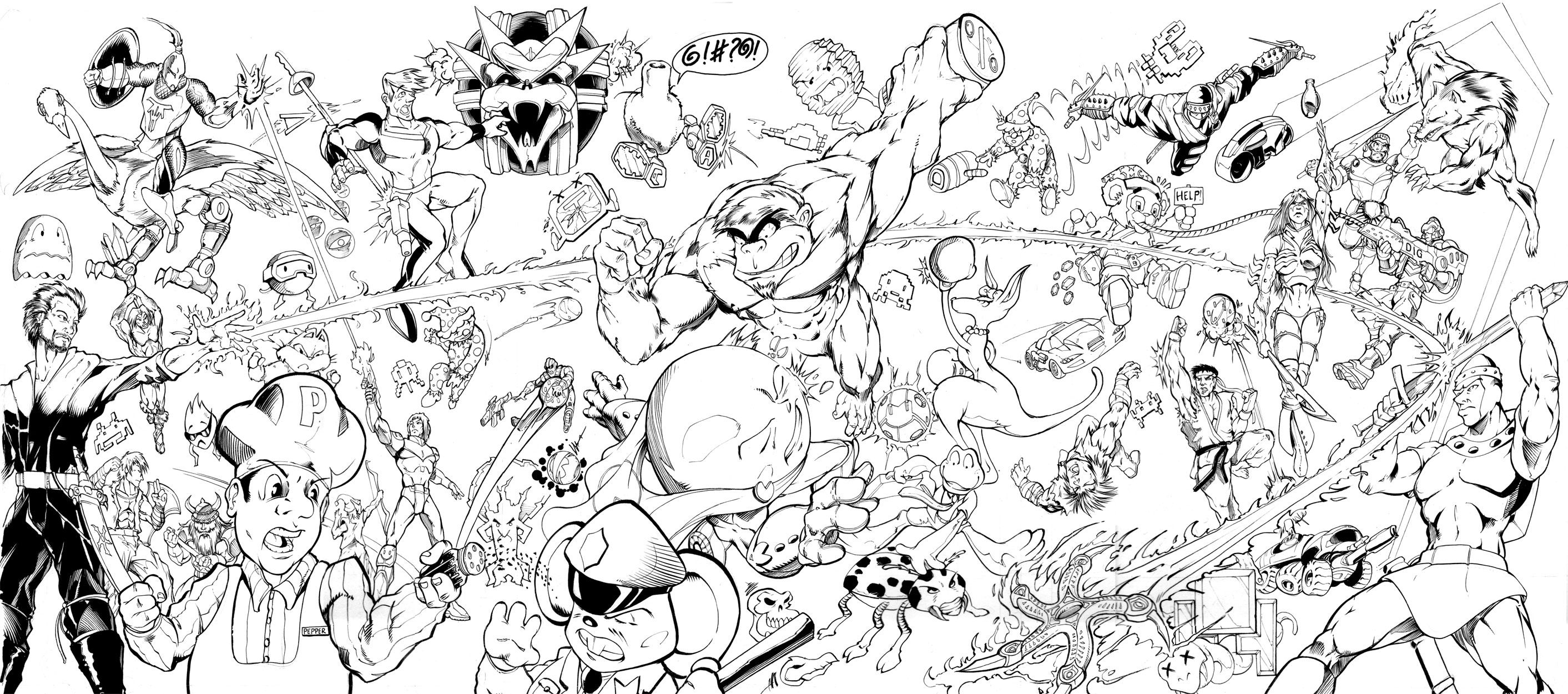 Super Smash Brothers Coloring Pages Coloring Home