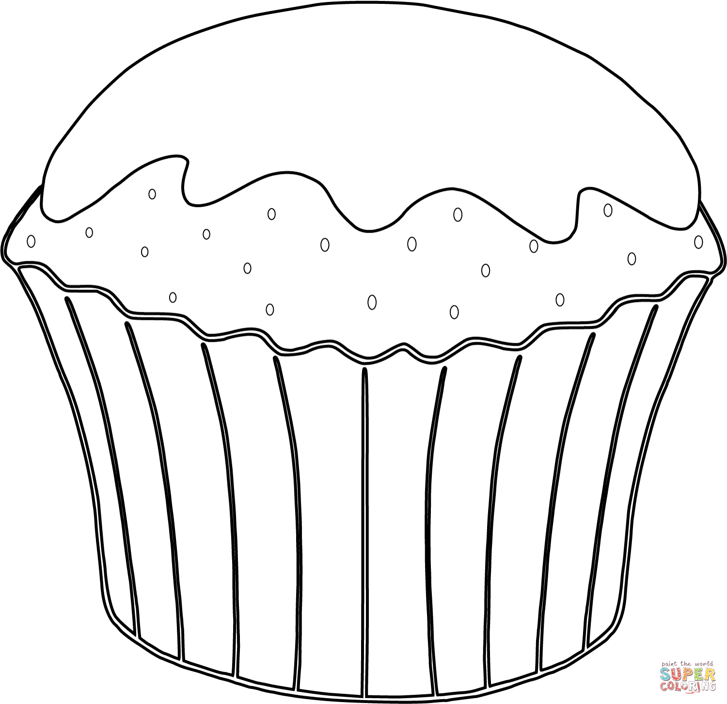 Coloring Pages For Kids Dessert